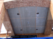 Soffit above rear deck