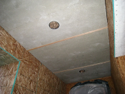 Entry soffit with Hardiboard