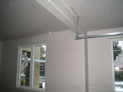 Garage drywall before taping