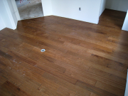 Engineered hardwood floor in study