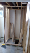 Framing for sump pump closet