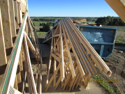 roof trusses are delivered