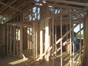 interior walls are framed