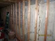 bsmt walls framed with gap next to fndtn for improved insulation system