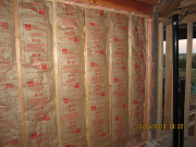 wall between existing home & addition is insulated