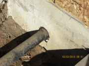 septic line is sealed to foundation