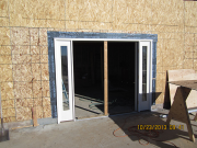 lower level door is installed