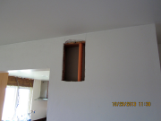 access in drywall to install fire sprinklers
