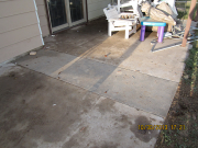 patio repair after new septic line