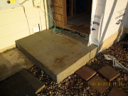 concrete placed for step into new mudroom against Vycor flashing