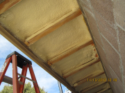 floor cantilever is insulated with closed cell foam
