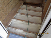 mudroom floor is insulated with closed cell foam