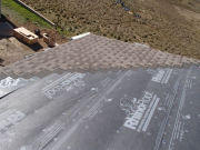 excellent roof underlayment and start of shingles