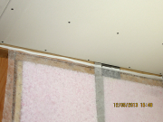top plate is caulked to prevent air leakage