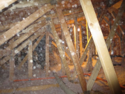 attic insulation in progress