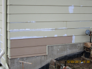 bad pieces of siding were replaced