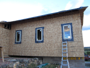 north windows are installed