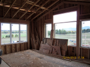 master bedroom windows are installed