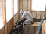 Close Cell Foam Insulation is Sprayed