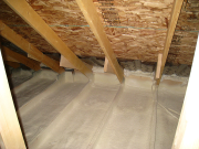 Attic is Sealed with Closed Cell Foam