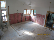 Kitchen is demolished & wall removed