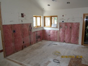 Floor & insulation are repaired before new drywall