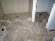 Master shower floor tile