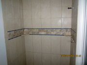 Master shower wall tile