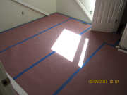 New hardwood floors are protected