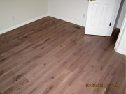New hardwood floor in guest bedroom