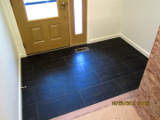 New tile floor at entry