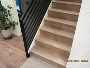 Stairs finished with hardwood