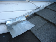 Step flashing incorrectly installed (original roof)