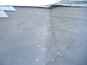 No ice & water shield in valley (original roof)