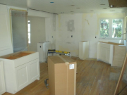 Wall in kitchen has been removed