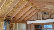 Rafters in master bedroom