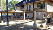 Deck parallam beams were installed