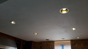 New can lights in kitchen ceiling
