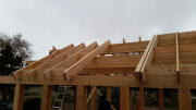 Opening for dormer to be built