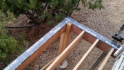 Deck perimeter beams are protected with Vycor
