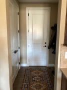Existing door to garage