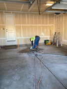 Sawing floor concrete