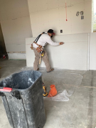 Cutting the drywall