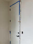 Foam insulation around door frame