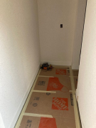Baseboard trim partial installation