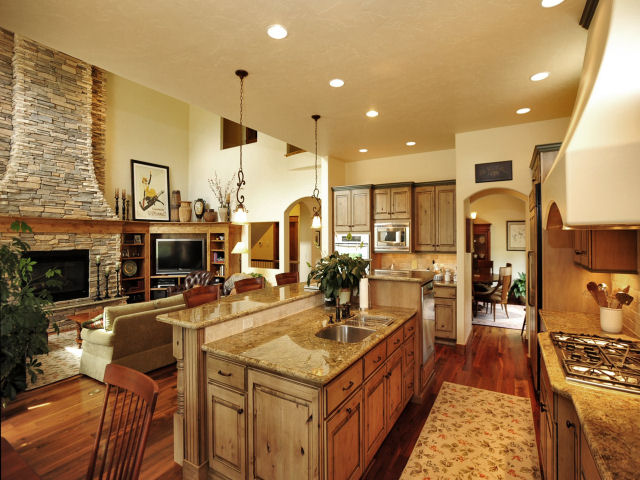 Homes and sites available energy efficient builders for Kitchen great room