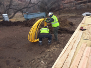 Beginning installation of  Xcel gas lateral