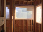 Windows protected from closed cell foam spraying