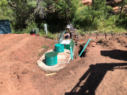 Septic dual tanks installation
