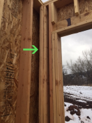 Energy efficient framing allows for better insulation
